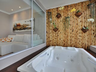 Rustic style spa by Bender Arquitetura Rustic