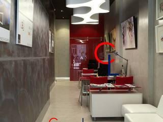 Interior de la oficina. : Oficinas y Tiendas de estilo  de Campa & Lamar Técnicos Asociados S.L.