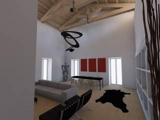 Living Area: Soggiorno in stile in stile Moderno di RDstudioarchitettura - daniele russo architetto