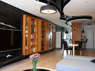 apartament  miasteczko wilanow: styl , w kategorii Salon zaprojektowany przez PIKSTUDIO