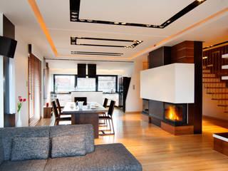 dom w makowie mazowieckim: styl , w kategorii Salon zaprojektowany przez PIKSTUDIO