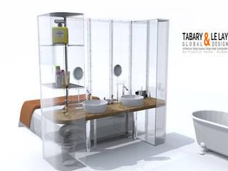 le PLAN B Frédéric TABARY Salle de bain moderne Plastique Transparent