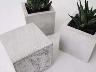 Hexahedron / Pflanzenübertopf aus Beton:   von frauklarer