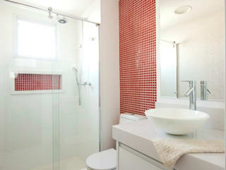ProArq Brasil Modern style bathrooms Ceramic Red