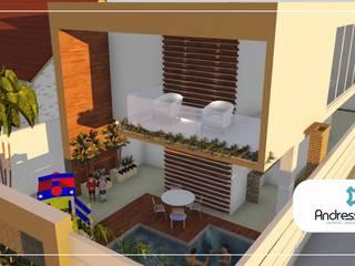 Reforma Ousada: Casas  por Andressa Leite Arquitetura e Iluminação