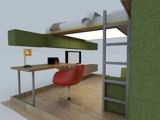 ZD House PRATIKIZ MIMARLIK/ ARCHITECTURE Chambre d'enfantsBureaux & chaises MDF Vert