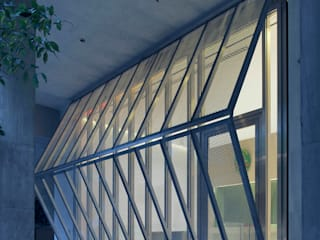 buerger katsota zt gmbh Bangunan Kantor Modern Besi/Baja Grey