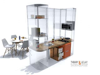 le PLAN B Frédéric TABARY Cuisine moderne Plastique Multicolore