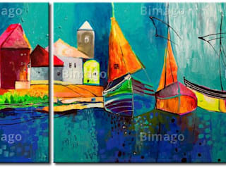 Bild auf Leinwand Märchenhafte Segelboote:   von Bimago