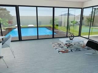 Rénovation complète villa 160 m² Balcon, Veranda & Terrasse modernes par Agence 3Dimensions Moderne