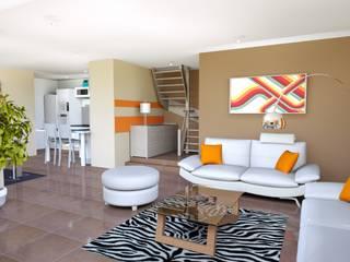Rénovation complète villa 160 m² Salon moderne par Agence 3Dimensions Moderne
