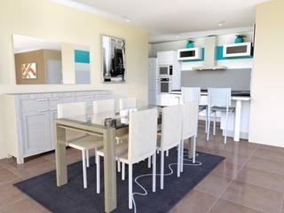 Rénovation complète villa 160 m² Cuisine moderne par Agence 3Dimensions Moderne