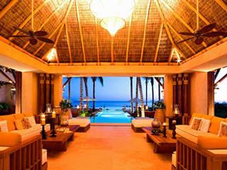 Casa Siete Salones tropicales de BR ARQUITECTOS Tropical