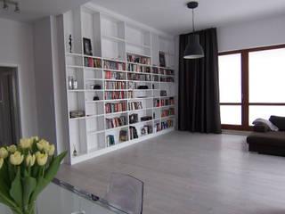 Mieszkanie Sarmacka, Warszawa : styl , w kategorii Salon zaprojektowany przez Pracownia projektowania wnętrz Beata Lukas