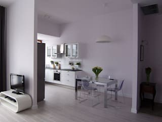 Mieszkanie Sarmacka, Warszawa : styl , w kategorii Jadalnia zaprojektowany przez Pracownia projektowania wnętrz Beata Lukas