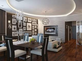 Moderne woonkamers van Astar project Modern