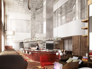 Hotel Virgin Chicago. Rockwell Group Europe Comedores de estilo moderno de factoria5 Moderno