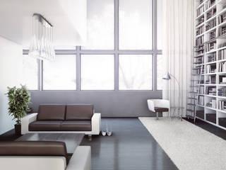 Dúplex en Swarzental, Suiza. Ksub&P Salones de estilo moderno de factoria5 Moderno