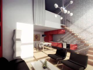 Hotel Filadelfia Suites. BNKR Arquitectura: Comedores de estilo  de factoria5