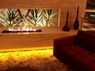 SALA LAREIRA ECOLOGICA: Sala de estar  por Leticia Prodocimo - LPA ARQUITETURA,