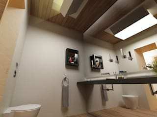 Banheiros minimalistas por GAUDIprojectos Minimalista