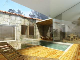 Casa D´Oliveira - Turismo Rural Hotéis rústicos por GAUDIprojectos Rústico