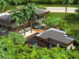 Perspectiva geral: Casas  por Simone Flores Arquitetos & Associados