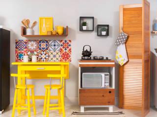 Cozinha integrada com lavanderia:   por Meu Móvel de Madeira,Minimalista Madeira maciça Multi colorido