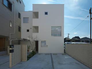 西田辺の家・ネコと夫婦の家 モダンな 家 の 大野アトリエ モダン