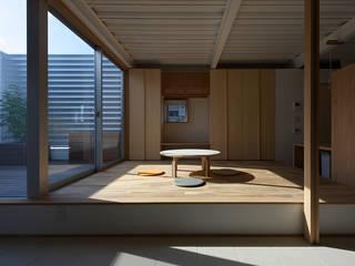 西田辺の家・ネコと夫婦の家 モダンデザインの ダイニング の 大野アトリエ モダン