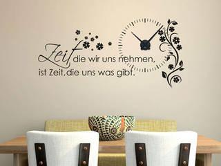 Uhrwerk mit Wandtattoo:   von Graz Design