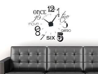 Wandtattoo Uhr Zahlen international:   von Graz Design