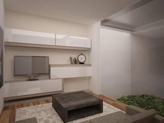 Estudio de TV: Salas multimedia de estilo moderno por Ana Corcuera Interiorismo
