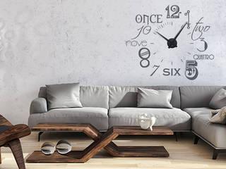 Wandtattoo  Mit Uhrwerk Zahlen:   von Graz Design