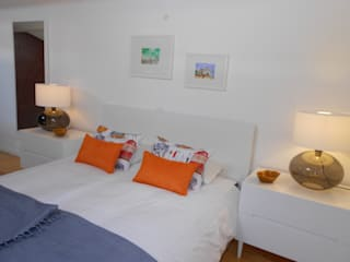 Interiores com alma Modern style bedroom Orange