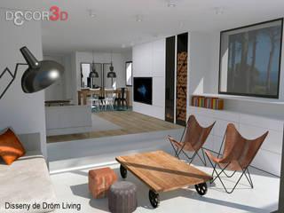 Salas de estilo minimalista por Nuria Decor3D
