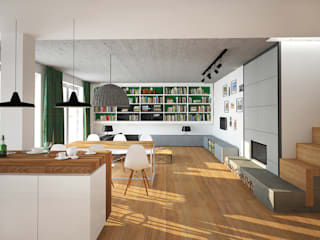 APARTAMENT_PODGÓRZE DUCHACKIE    : styl , w kategorii Salon zaprojektowany przez motifo