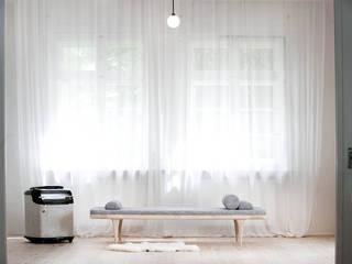 L2 Chaise longue: scandinavian  by Loft Kolasinski, Scandinavian Flax/Linen Pink