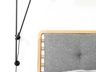 B1 Łóżko: styl , w kategorii  zaprojektowany przez Loft Kolasiński