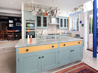 Mediterranean Style Rencraft Kitchen Wood Blue