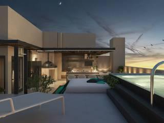 Moderner Balkon, Veranda & Terrasse von STUDIO 52 Modern