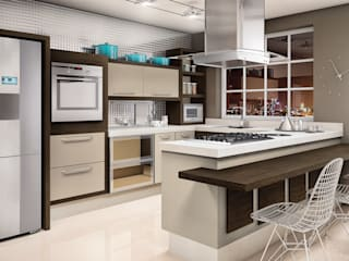 Cozinha:   por Fabrik Ambientes Planejados,Clássico