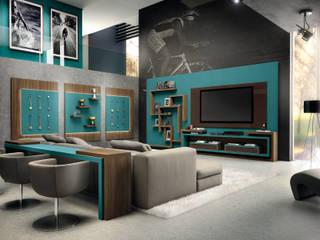 Home Sala:   por Fabrik Ambientes Planejados,Moderno