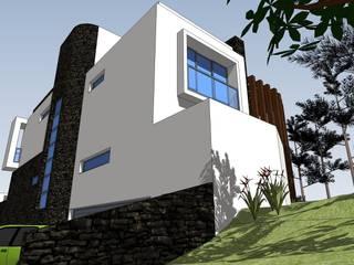 Moradia Unifamiliar: Casas  por Garcez- Arquitectos Associados,LDA