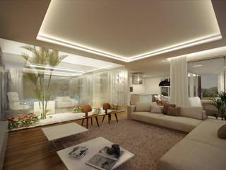 Salas de estilo moderno por VISMARACORSI ARQUITECTOS