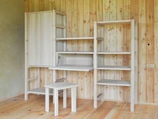 Regalsystem mit Sekretär + Hocker:   von Holzbearbeitung Raphael Lempert