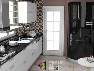 imza decor – istanbul tuzla villa akrilik mutfak tasarımı: modern tarz , Modern