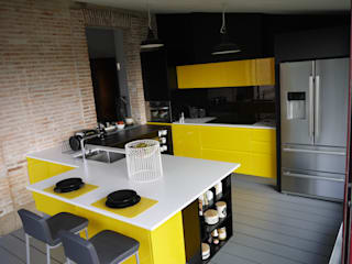 Du jaune dans la cuisine pour un look vitaminé! par Démesure Moderne