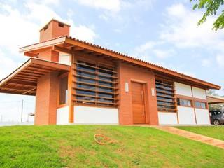 Casa em Araçoiaba da Serra-SP Brasil Casas modernas por TK arquitetura e Design de Interiores Moderno