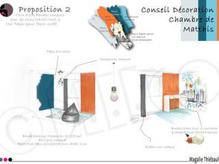 Conseil Décoration - Chambre d'enfant garçon - Rhône (69) par dEEEco Moderne